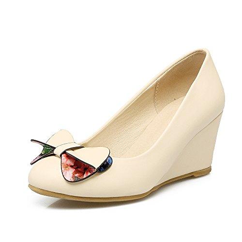 Fashion HeelHeels - Sandalias con cuña mujer albaricoque