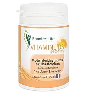 Vitamine D3 1000 UI/gélule • Pure et Naturelle • 60 Gélules végétales sans titane sans gluten sans lactose sans OGM…