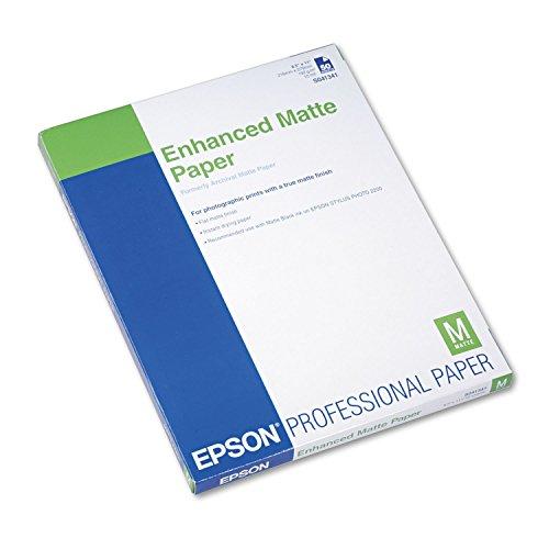Epson Inkjet Matte Photo Paper Archival 8.5x11 50/pk 8.5x11 Matte Archival 50 Sht by DRP-S041341