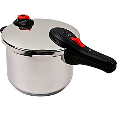 Nuwave 5 Quart Aluminum Non Electric Induction Stainless Steel Pressure Cooker