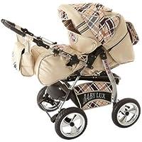Lux4Kids Kinderwagen Set Babywanne Sportsitz Babyschale Wickeltasche Matratze Buggy optionales Zubehör Megaset über 400 Auswahlmöglichkeiten 3in1 oder 2in1 Set Made in EU iCaddy