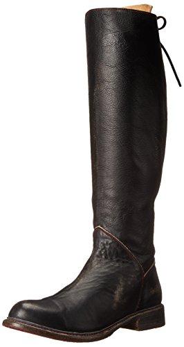 bed stu Women's Manchester Motorcycle Boot, Black Handwash, 9 M US