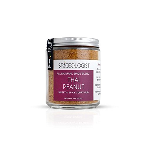 Spiceologist - Thai Peanut BBQ Rub and Seasoning - Sweet & Spicy Curry Spice Blend - 4.3oz by Spiceologist