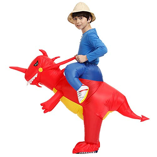 Inflatable Rider Costume Riding Me Fancy Dress Funny Dinosaur Unicorn Funny Suit Mount Kids Adult (Child(90-140CM), -