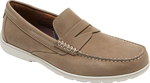 Rockport Mens Total Motion Penny Driving Style Loafer New Vicuna Nubuck bPlpp5