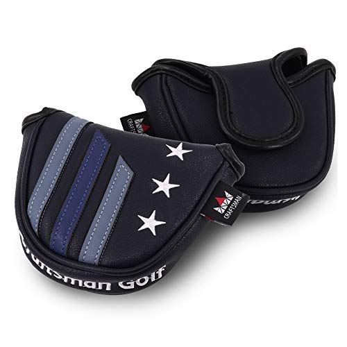 (Craftsman Golf Blue Strips Mallet Putter Cover Magnetic Closure (Heel)