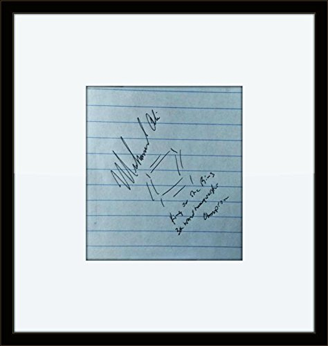 Framed Muhammad Ali Authentic Autograph with Ceritficate of Authenticity ()