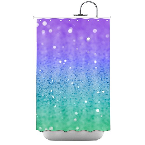 Shining Glitter Polyester Bathroom Curtain product image