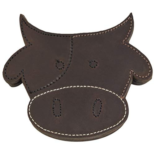 - Hide & Drink, Durable Thick Leather Milk Cow/Animal Farm Cute Shaped Coasters (6-Pack) Handmade Includes 101 Year Warranty :: Bourbon Brown