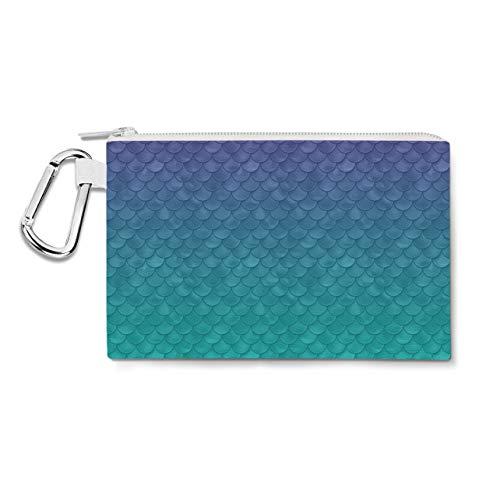 Ariel Mermaid Disney Inspired Canvas Zip Pouch - XL Canvas Pouch 12x9 inch - Multi Purpose Pencil Case Bag