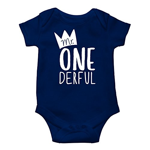 (Mr One-Derful Baby Boys 1st Birthday Bodysuit First Birthday Outfit for Boys )