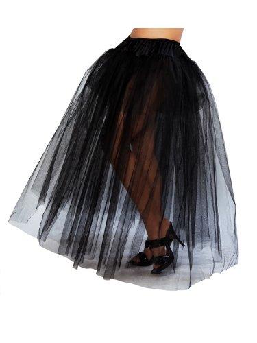 Petticoat Adult Sexy Costume Accessory - Roma Costume Full Length Petticoat Costume, Black, One Size