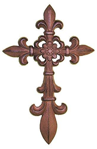 Amazon.com: Cast Iron Fleur De Lis Wall Cross: Home & Kitchen