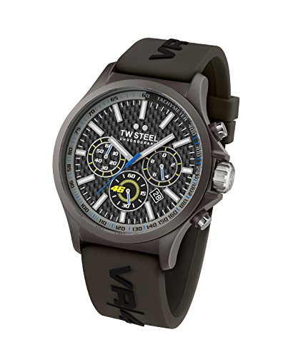 TW Steel Unisex TW935 VR46 Analog Display Quartz Black Watch