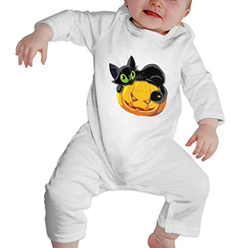Baby Romper Halloween Cat Pajama Clothes White