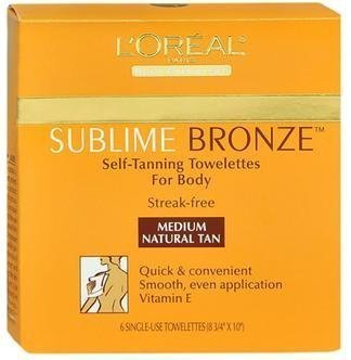 (L'Oreal Paris Sublime Bronze Self-Tanning Body Towelettes, 6 Count (Pack of)