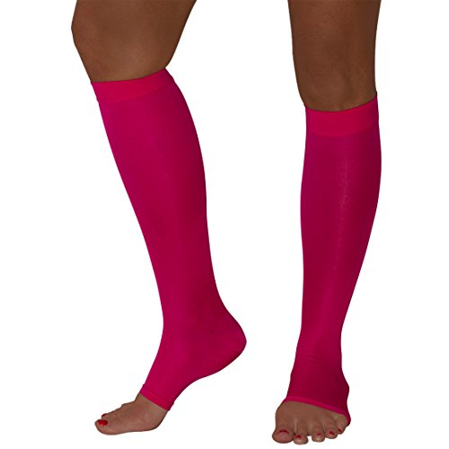 Best Pure Compression Toe Socks - Maternity Compression Stockings - Open-Toe -