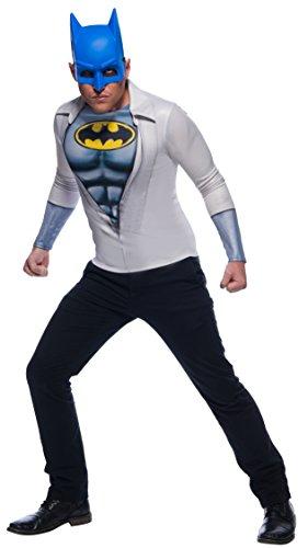 Rubie's Costume Men's DC Comics Photo Real Batman/Bruce Wayne Costume Top, as Shown, Standard