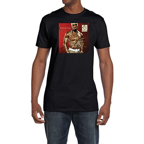 50 Cent Get Rich Or Die Tryin T Shirt Hip Hop Tee Rap Music G Unit Power Black (4XL)