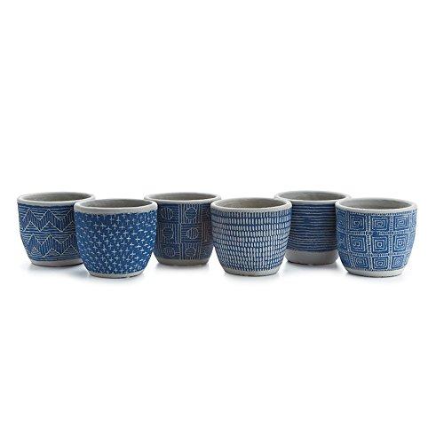 Napa Home & Garden SANTA FE POTS ST/6 BLUE