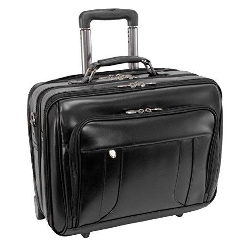 McKleinUSA Lasalle 83405 R Series Leather 17-Inch Wheeled Laptop Overnight (Black) ()