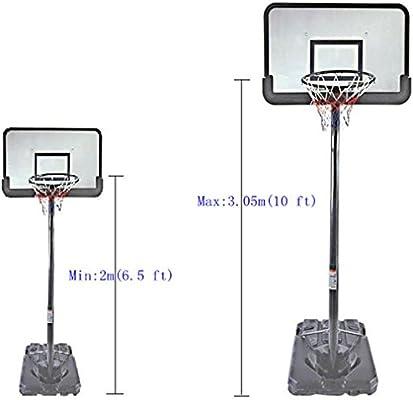 GMT Sport - Juego de Canasta de Baloncesto y Soporte de aro Ajustable Profesional de 3 m