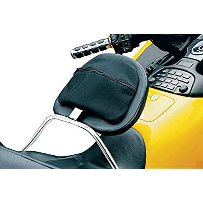 Kuryakyn 8990 Motorcycle Accessory: Adjustable Padded Driver Backrest with Rear Mounted Storage Pouch for 2001-10 Honda Gold Wing GL1800 Motorcycles, Chrome: Automotive