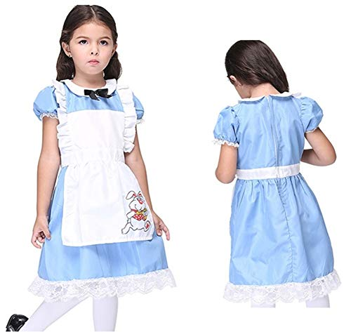 Girl's Alice Wonderland Halloween Costume Dress]()