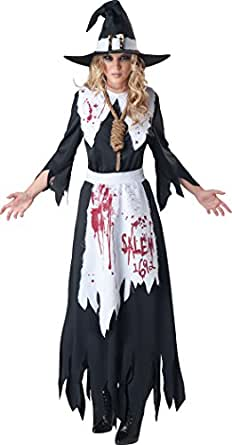 Fun World InCharacter Costumes Women's Salem Witch Costume, Black/White, Small