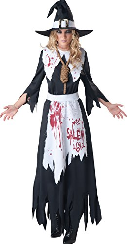 InCharacter Costumes Women's Salem Witch Costume, Black/White, Medium
