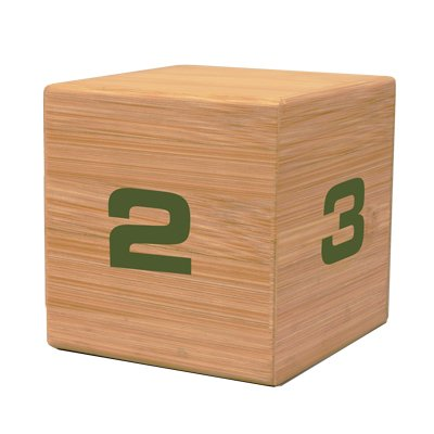 The Miracle TimeCube Timer, Natural Bamboo Wood, 1,2,3 and 4 Minutes, for Time Management, Kitchen Timer, Kids Timer, Workout Timer