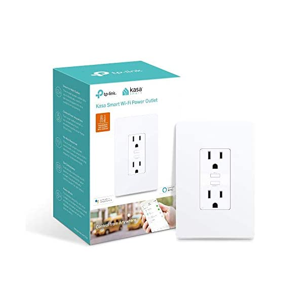 Kasa Smart WiFi 2 Outlet In-Wall Plug by TP-Link - Smart Plug, No Hub  Required, Works with Alexa and Google (KP200)