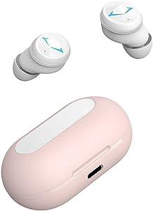 XRQ Bluetooth Earbuds, True Wireless Earbuds IPX7 Waterproof Bluetooth 5.0 Headphones 65H Cycle Playtime HD Stereo Sound Wireless Headphones Headset for Work/Travel