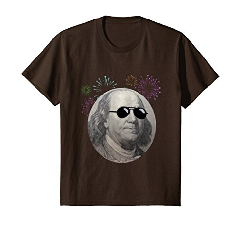 Kids Cool Ben Franklin with Sunglasses T Shirt 4th of July 10 - Glasses Ben 10