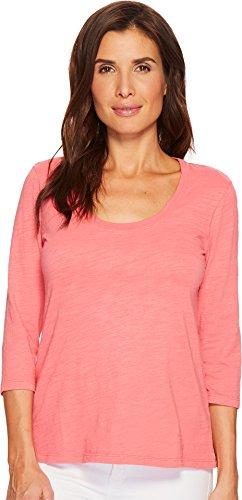 Mod-O-Doc Women's Slub Jersey 3/4 Sleeve Scoopneck Tee Faded Red Medium