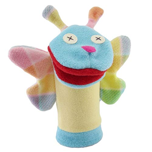 Cate & Levi - Fleece Hand Puppet - Handmade in Canada - Great for Storytelling (Butterfly) ()