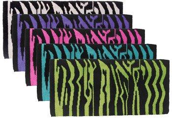 Tough-1 Acrylic Zebra Saddle Blanket Purple