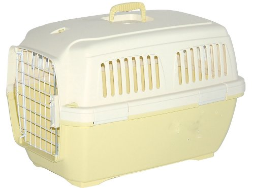 Marchioro Clipper Cayman 1 Pet Carrier, Small Pet, 19.5-inches, Tan/Soft Yellow