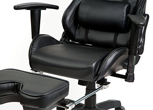 Hullr Gaming Racing Computer Office Chair With Foot Rest