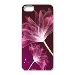 glam transparent red flower personalized high quality cell phone Iphone 5/5S