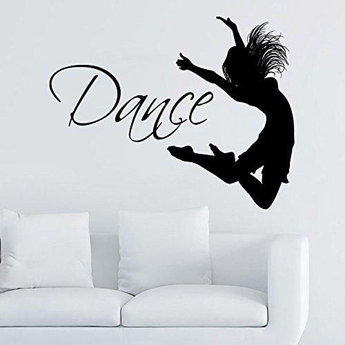 Dance Wall Decal Vinyl Sticker Decals Ballet Dancing Ballerina Acrobatics Gymnastics Wall Decal Quote Wall Decor Dance Studio Decor Art ZX6 by IncredibleDecals