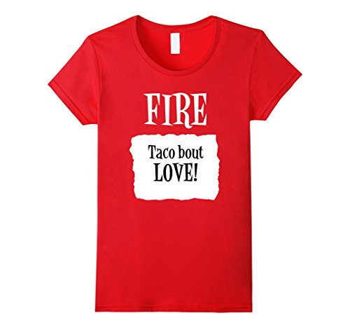 Group Costumes - Womens Taco bout Love! Fire Hot Sauce Group Halloween Costume Large Red