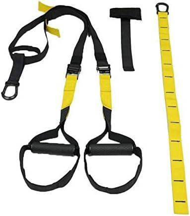 LorsoSport TR-X - Juego de entrenamiento de suspensión ajustable con correa de extensión de resistencia a la suspensión, cuerda elástica, para el ...