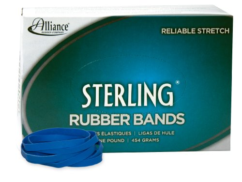 Alliance Rubber 44645 Sterling Rubber Bands Size #64, 1 lb Box Contains Approx. 425 Bands (2 1/2