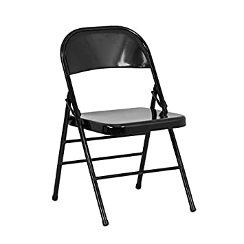 Phenomenal Flash Furniture 4 Pk Hercules Series Triple Braced Double Hinged Black Metal Folding Chair 4 Hf3 Mc 309As Bk Gg Andrewgaddart Wooden Chair Designs For Living Room Andrewgaddartcom