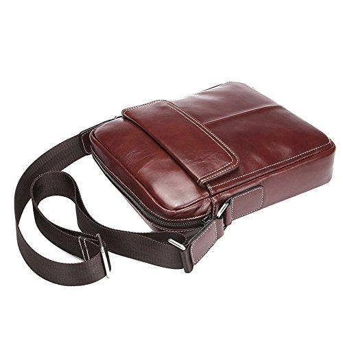 Genda 2Archer Bolso Clásico del Mensajero del iPad de los Hombres Bolso del Tracolla del Bolso de Hombro del Cuero (los 23cm * 5.5cm * los 26cm)