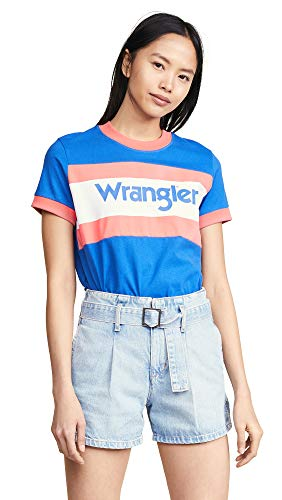 Wrangler Women's '80s Tee, Turkish Sea, Blue, Graphic, Small