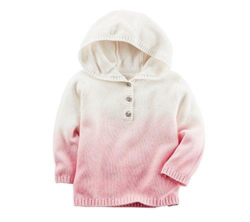 Carter's Baby Girls' Dip Dye Hooded Cardigan 9 - Warehouse Sweater