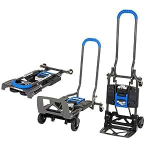 Cosco 12222BG1UE Cosco Shifter, Carretilla de Mano 135Kg Plegable de Multiples Posiciones para Trabajos Pesados, Azul, Azul