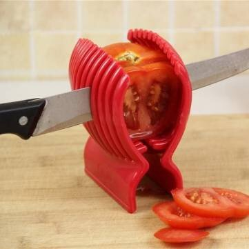Tomato Onion Slicer Vegetables Fruits Cutter Holder Kitchen Tool
